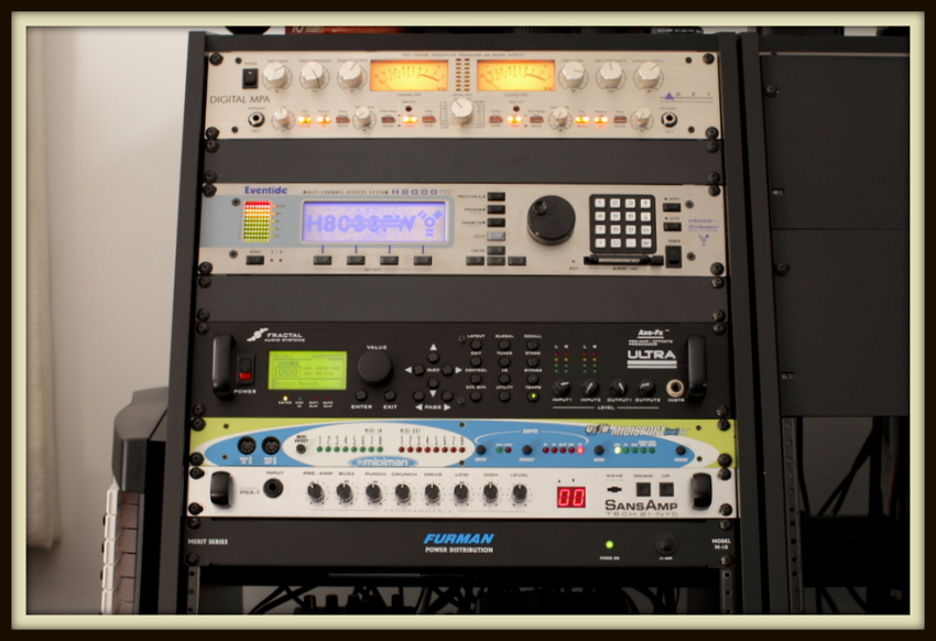 Rack Gear: Fractal Audio Axe-Fx Ultra, Eventide H8000FW, SansAmp PSA-1