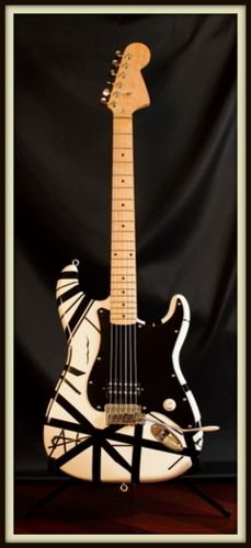 Custom White Van Halen I FrankenStrat by David Gehring