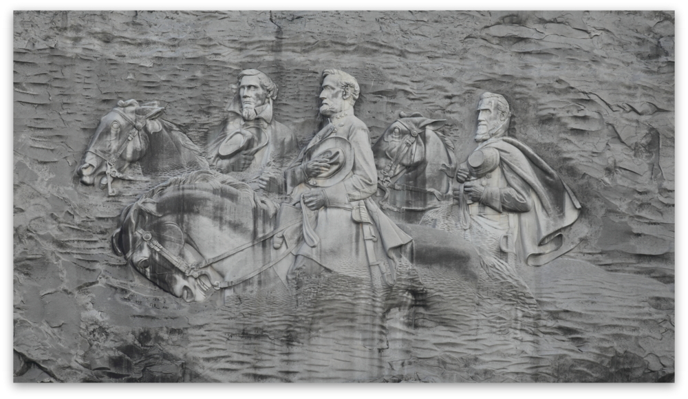 Stone Mountain Park, Dec 03, 2012 - The Confederate Memorial Carving on the face of Stone Mountain
