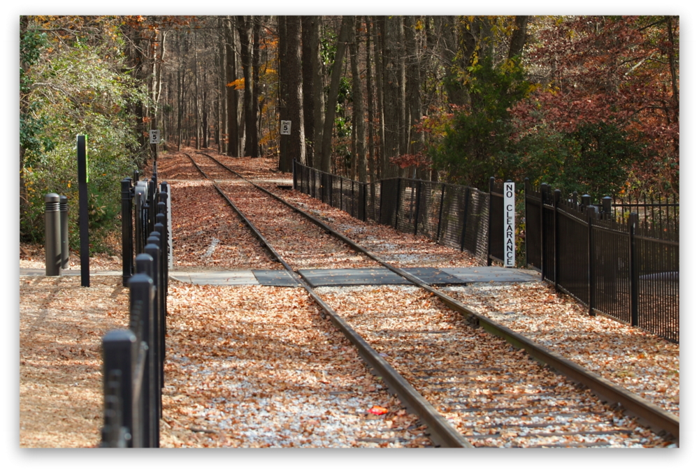 Stone Mountain Park, Dec 03, 2012 - The Scenic Railroad track at Stone Mountain Park