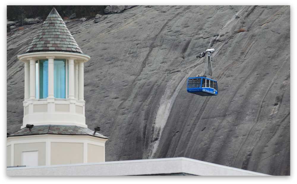 Stone Mountain Park, Dec 03, 2012 - The Summit Skyride/Skylift over Memorial Hall at Stone Mountain Park