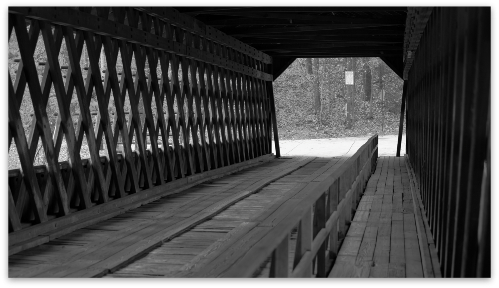 Stone Mountain Park, Dec 03, 2012 - A view through the Covered Bridge at Stone Mountain Park